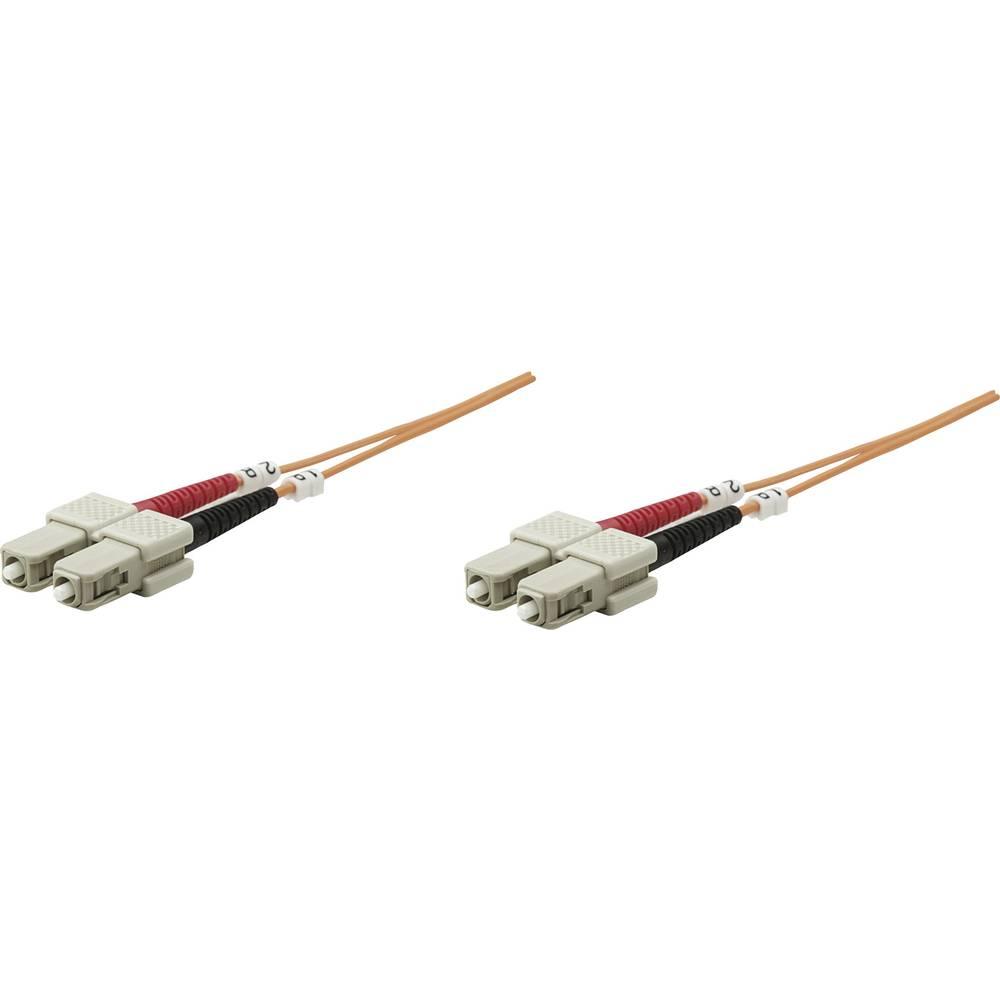 Priključni kabel iz optičnih vlaken [1x SC-vtič - 1x SC-vtič] 62,5/125µ multi-način OM1 1 m Intellinet