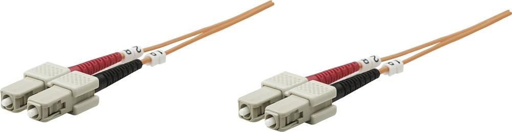 Priključni kabel iz optičnih vlaken [1x SC-vtič - 1x SC-vtič] 62,5/125µ multi-način OM1 20 m Intellinet