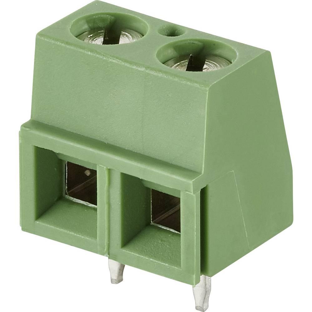 Skrueklemmeblok TE Connectivity 1546216-2 1.40 mm² Poltal 2 Grå 1 stk