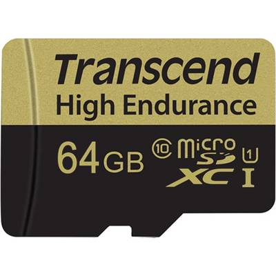 Image of Transcend High Endurance microSDXC card 64 GB Class 10 incl. SD adapter