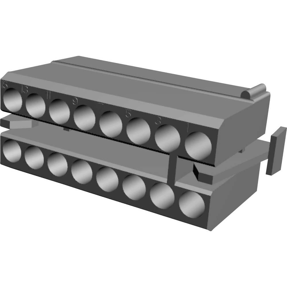 Ohišje kabelske vtičnice, skupno št. polov: 16 TE Connectivity 1-480438-0 razporeditev kontaktov: 5.08 mm 1 kos