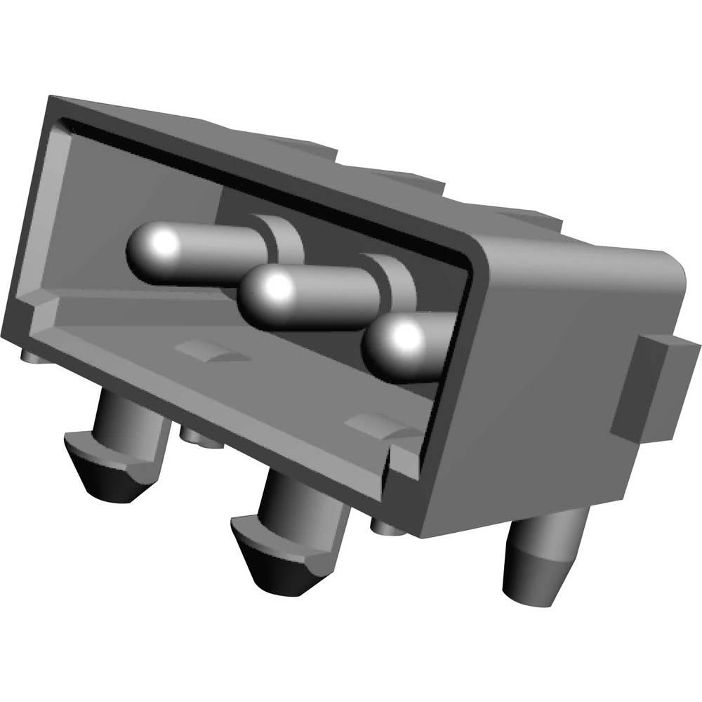 Stiftkabinet-printplade MATE-N-LOK Samlet antal poler 3 TE Connectivity 643488-1 Rastermål: 5.08 mm 1 stk