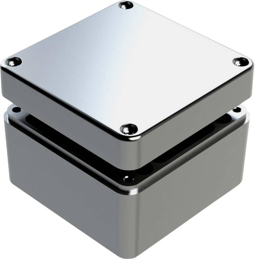 Universalkabinet 125 x 125 x 90 Aluminium Grå Deltron Enclosures 487-121209A-68 1 stk