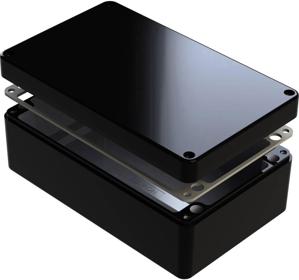 Universalkabinet 220 x 120 x 90 Aluminium Sort Deltron Enclosures 487-221209E-66 1 stk