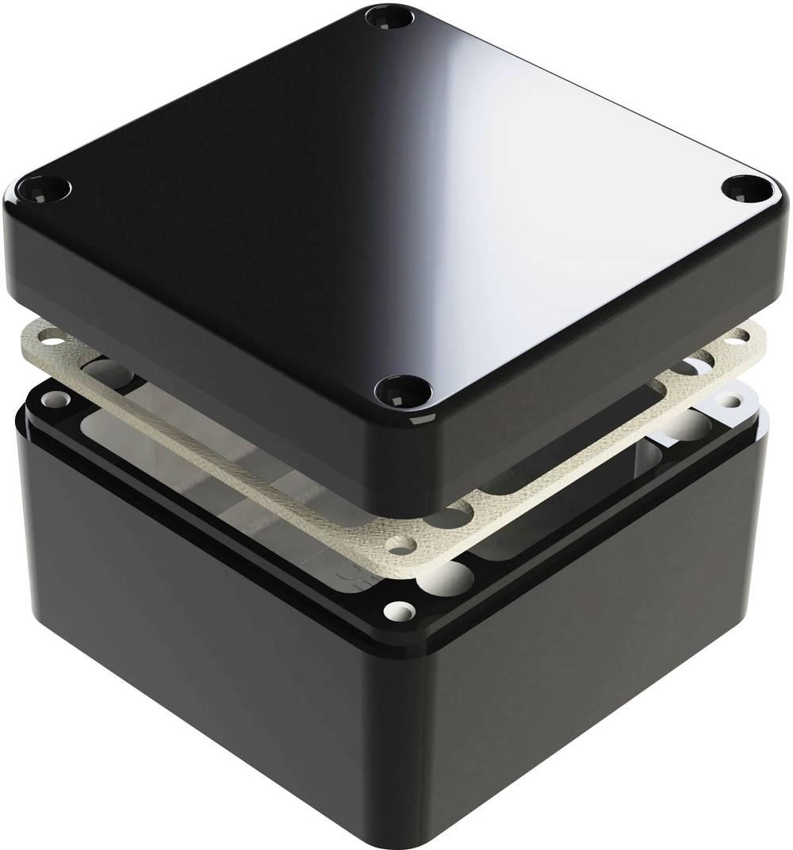 Universalkabinet 125 x 125 x 90 Aluminium Sort Deltron Enclosures 487-121209B 1 stk