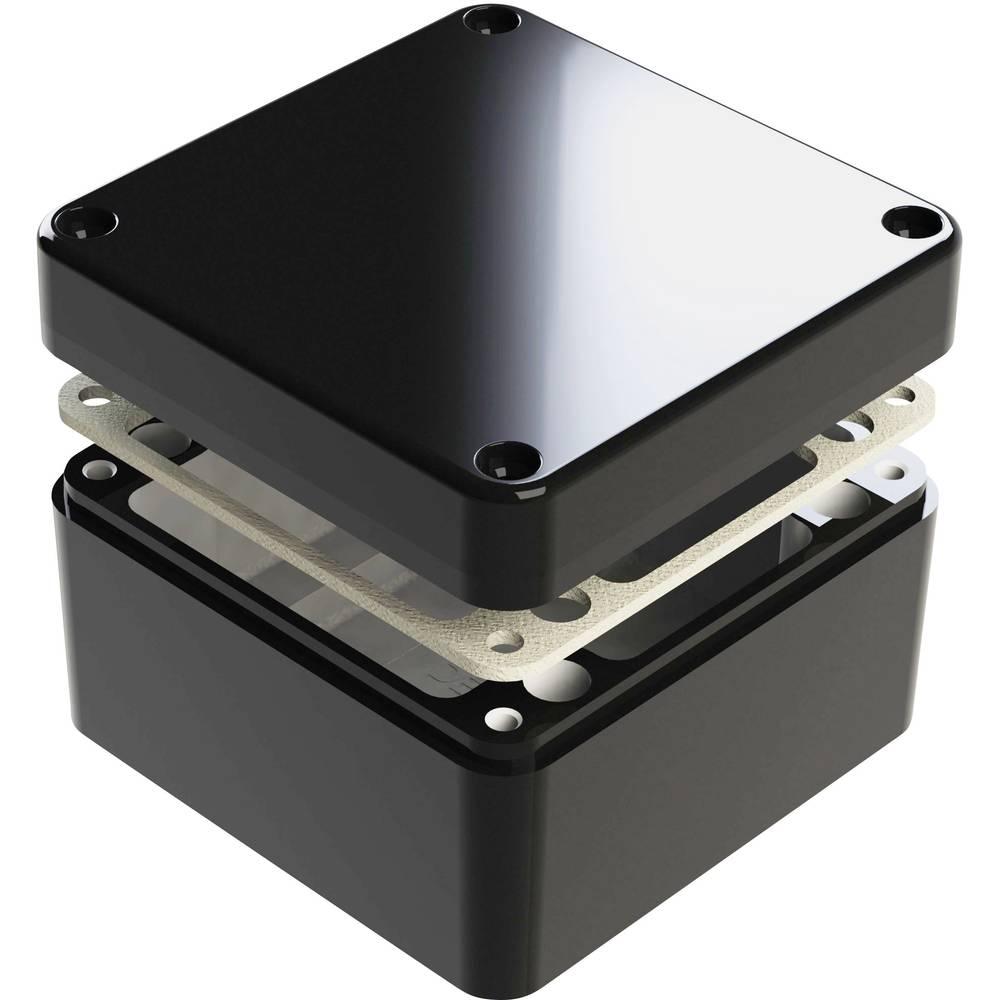 Universalkabinet 125 x 125 x 90 Aluminium Sort Deltron Enclosures 487-121209E-66 1 stk