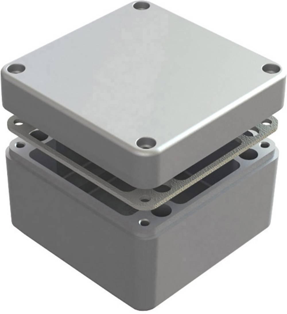Universalkabinet 125 x 125 x 80 Aluminium Natur Deltron Enclosures 486-121208-66 1 stk