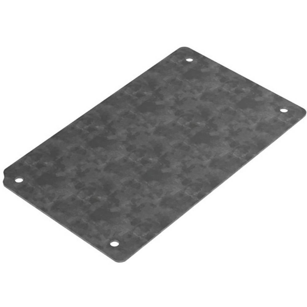 Monteringsplade Deltron Enclosures 4MP1212 (L x B) 108 mm x 80 mm Stålplade 1 stk