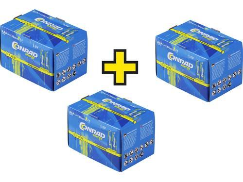 Conrad energy LR03 AAA batterij (potlood) Alkaline 1.5 V 72 stuk(s)
