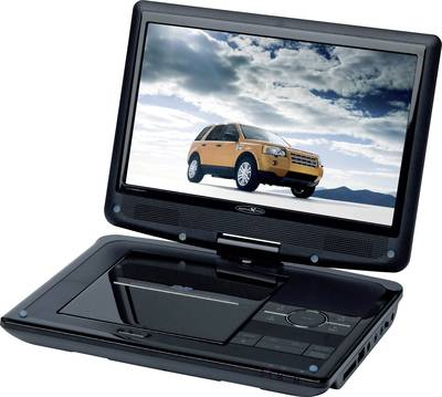 Reflexion DVD9003 Portable DVD player 22.86 cm 9  incl. 12V car power cable, built-in DVD player Black
