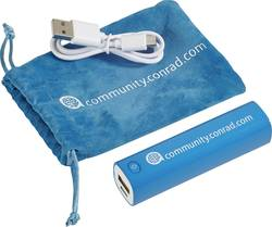 Powerbank VOLTCRAFT Conrad community Litium 2600 mAh Cyan