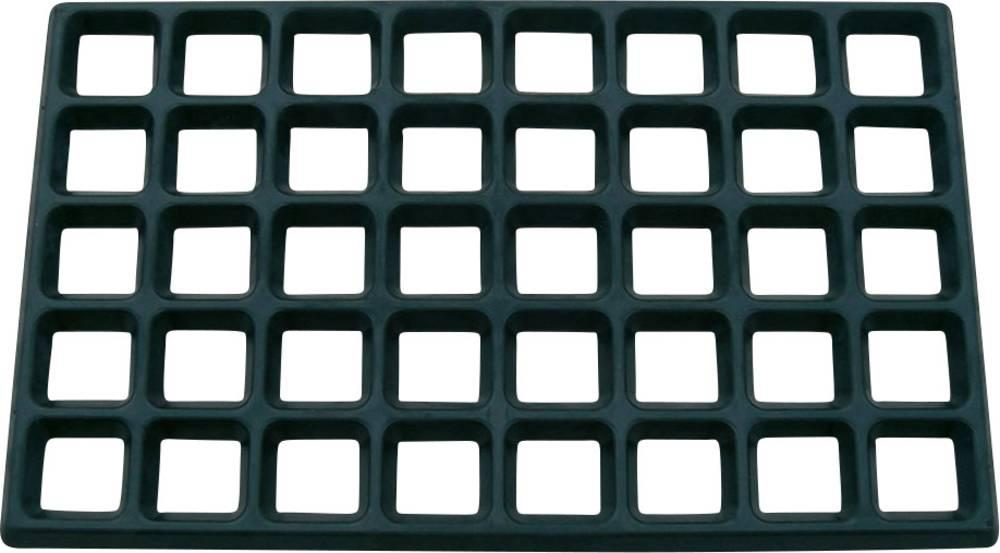 ESD-monteringsgittermåtte Bernstein 9-334 Sort (L x B x H) 610 x 370 x 20 mm