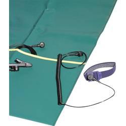 ESD servisni set, zelene barve (D x Š x V) 500 x 400 x 0.35 mm Bernstein 9-354