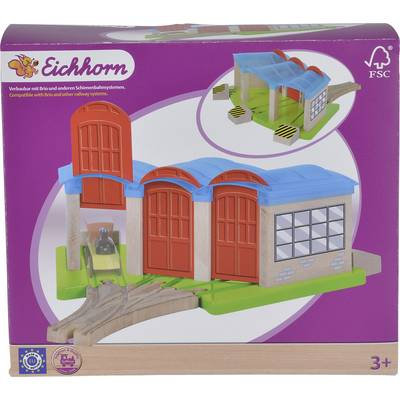 Eichhorn Wooden train set Train depot 100001521