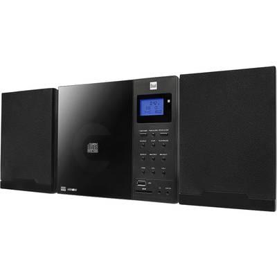 Audio system Dual DAB 102 AUX, CD, DAB+, SD, FM, USB Wall mount brackets Black