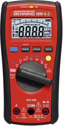 Hånd-multimeter digital Benning MM 6-2 Fabriksstandard CAT III 1000 V, CAT IV 600 V
