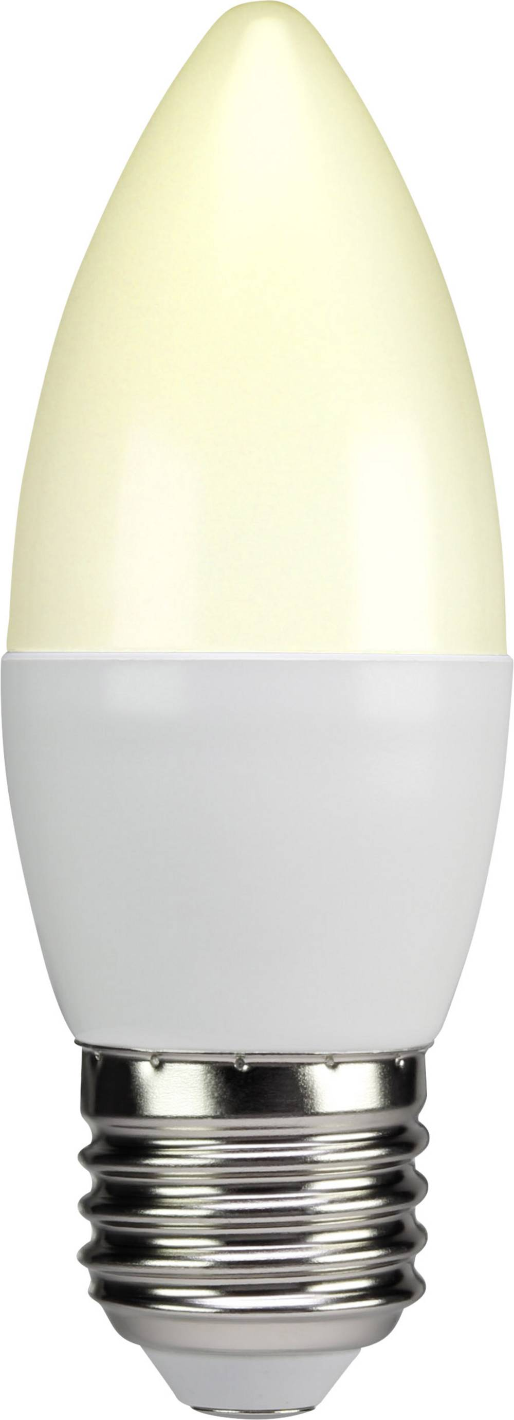 LED žarnica E27 oblika sveče 6 W = 40 W topla bela (premer x D) 38 mm x 105 mm EEK: A+ Sygonix 1 kos