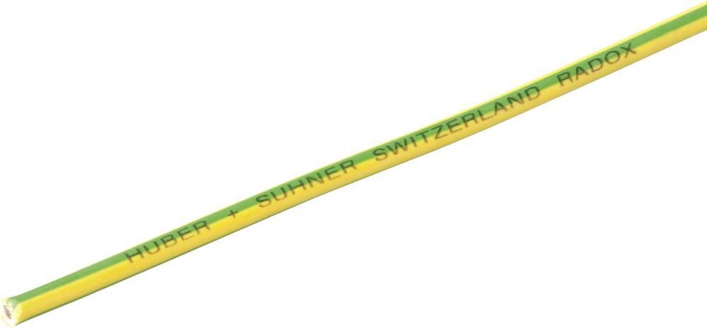 Finožični vodnik Radox® 155 1 x 1 mm zelene barve -rumene barve Huber & Suhner 12420039 meterski