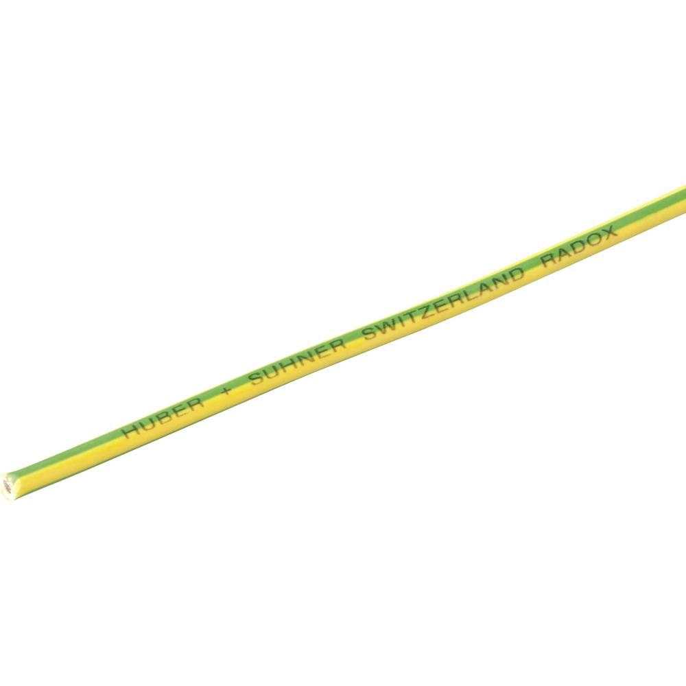 Finožični vodnik Radox® 155 1 x 4 mm zelene barve -rumene barve Huber & Suhner 12420125 meterski