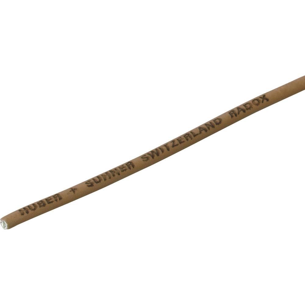 Finožični vodnik Radox® 155 1 x 0.25 mm rjave barve Huber & Suhner 12420745 meterski