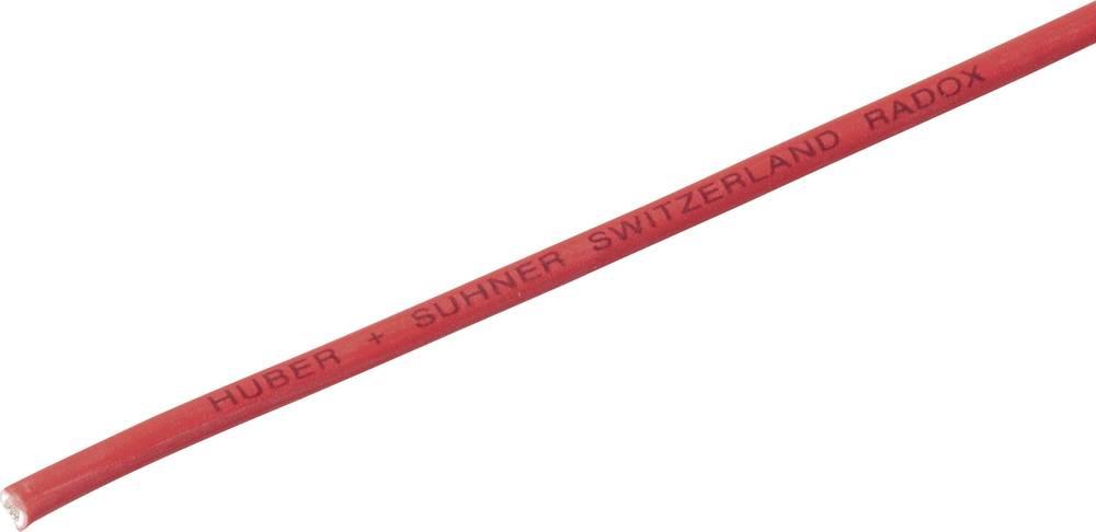 Finožični vodnik Radox® 155 1 x 4 mm rdeče barve Huber & Suhner 12420124 meterski