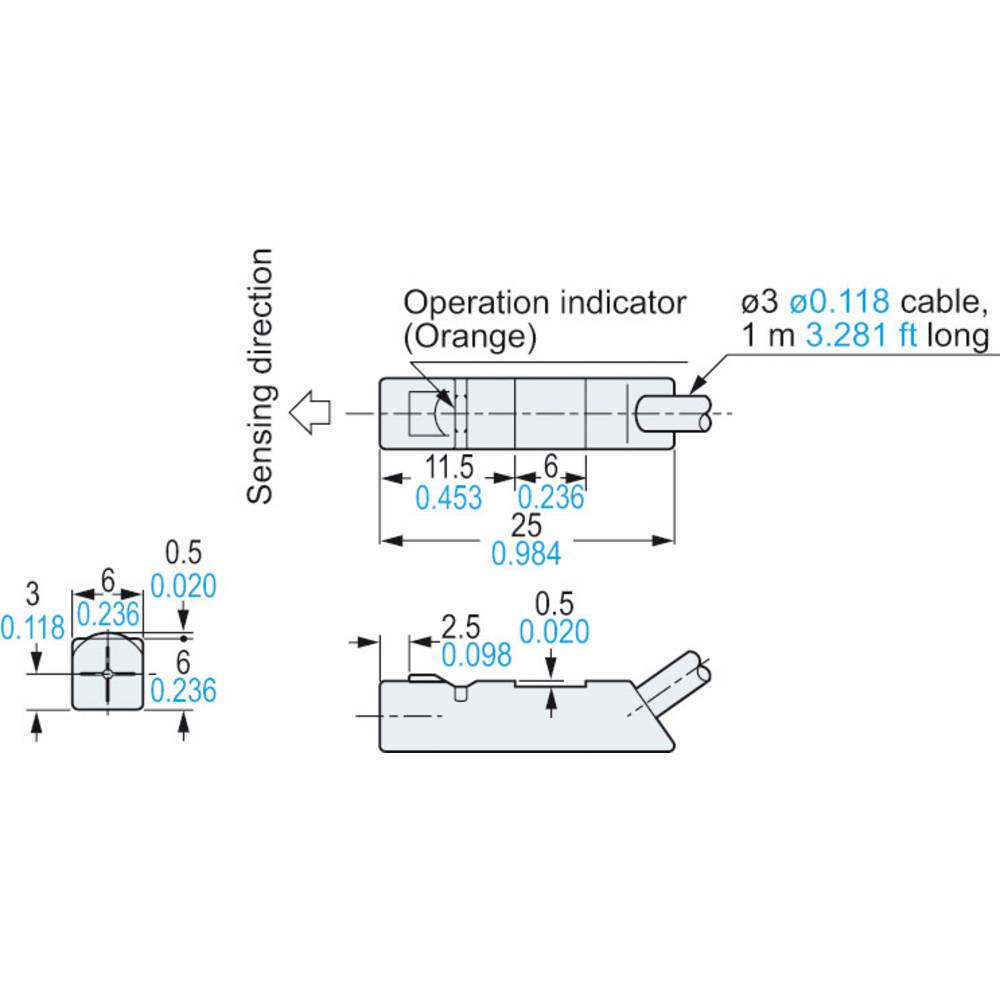 Panasonic Inductive proximity sensor NPN GX-H6B