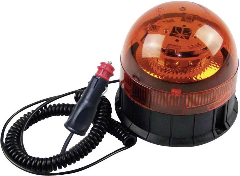 Okrogla luč 8 CREE LED 12 V, 24 V magnetno stojalo, vijačna montaža oranžne barve Berger & Schröter 1 kos