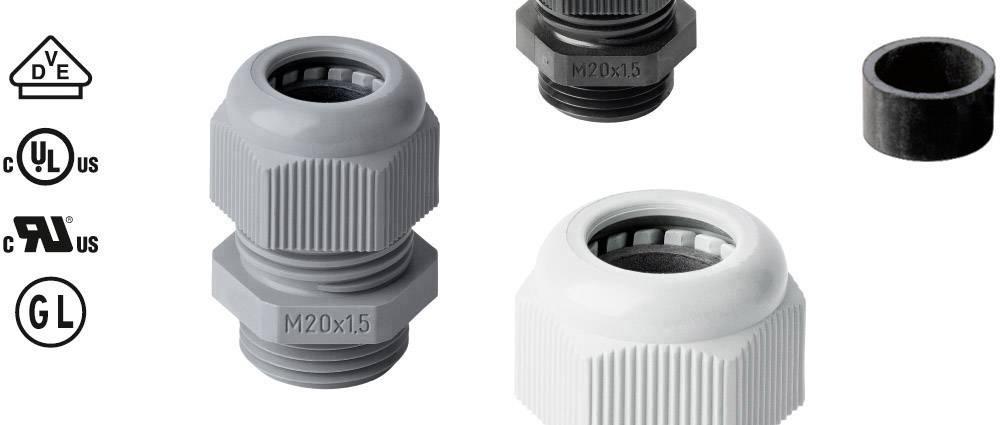 Kabelforskruning Jacob 50.650 PA7035 M50 Polyamid Lys grå (RAL 7035) 1 stk