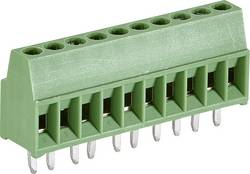 Skrueklemmeblok TE Connectivity 282834-8 1.4 mm² Poltal 8 Grøn 1 stk