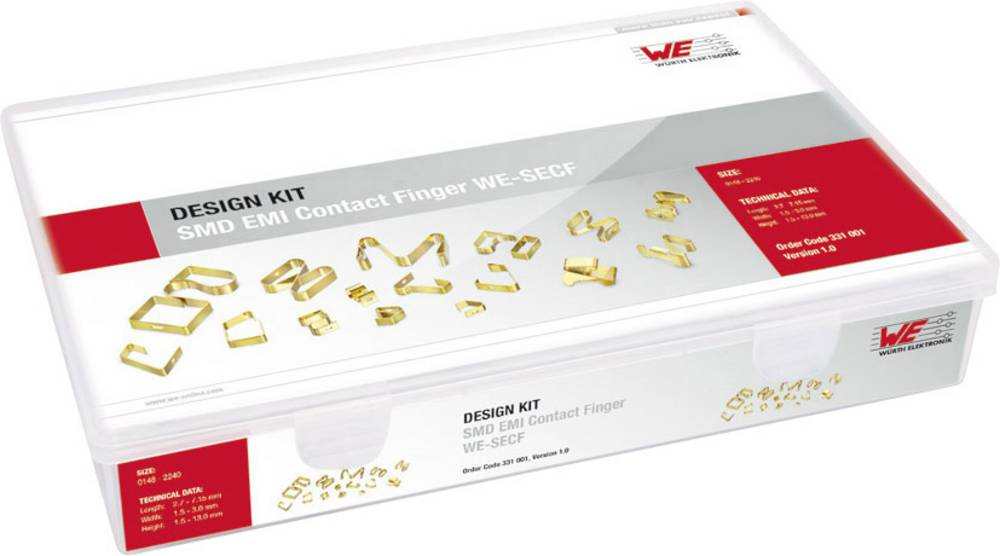 Design Kit, kontaktne vzmeti Würth Elektronik WE-SECF 331001 290 delov