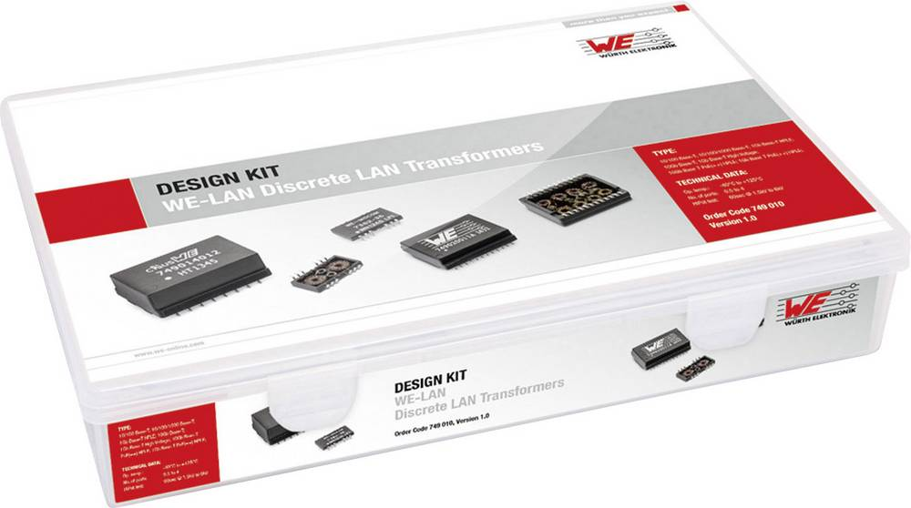 Design Kit, transformatorji Würth Elektronik WE-LAN 749010 75 delov