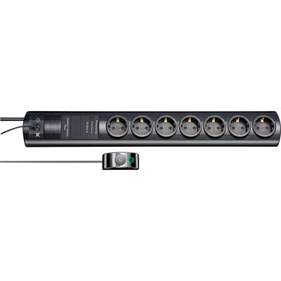 Image of Brennenstuhl 1153300467 Surge protection socket strip 7x Black PG connector 1 pc(s)