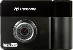 Dashcam med GPS Transcend DrivePro 520 Betragtningsvinkel horisontal=130 ° 12 V, 24 V Dual-Kamera, Mikrofon, Batteri, Display
