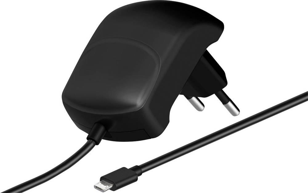 USB-oplader Goobay 63791 Stikdåse Udgangsstrøm max. 2100 mA Mikro-USB