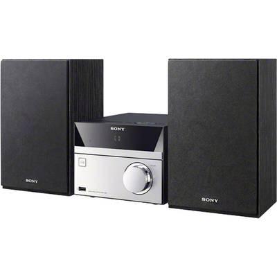 Audio system Sony CMT-SBT20B AUX, Bluetooth, CD, DAB+, NFC, FM, USB Black, Silver