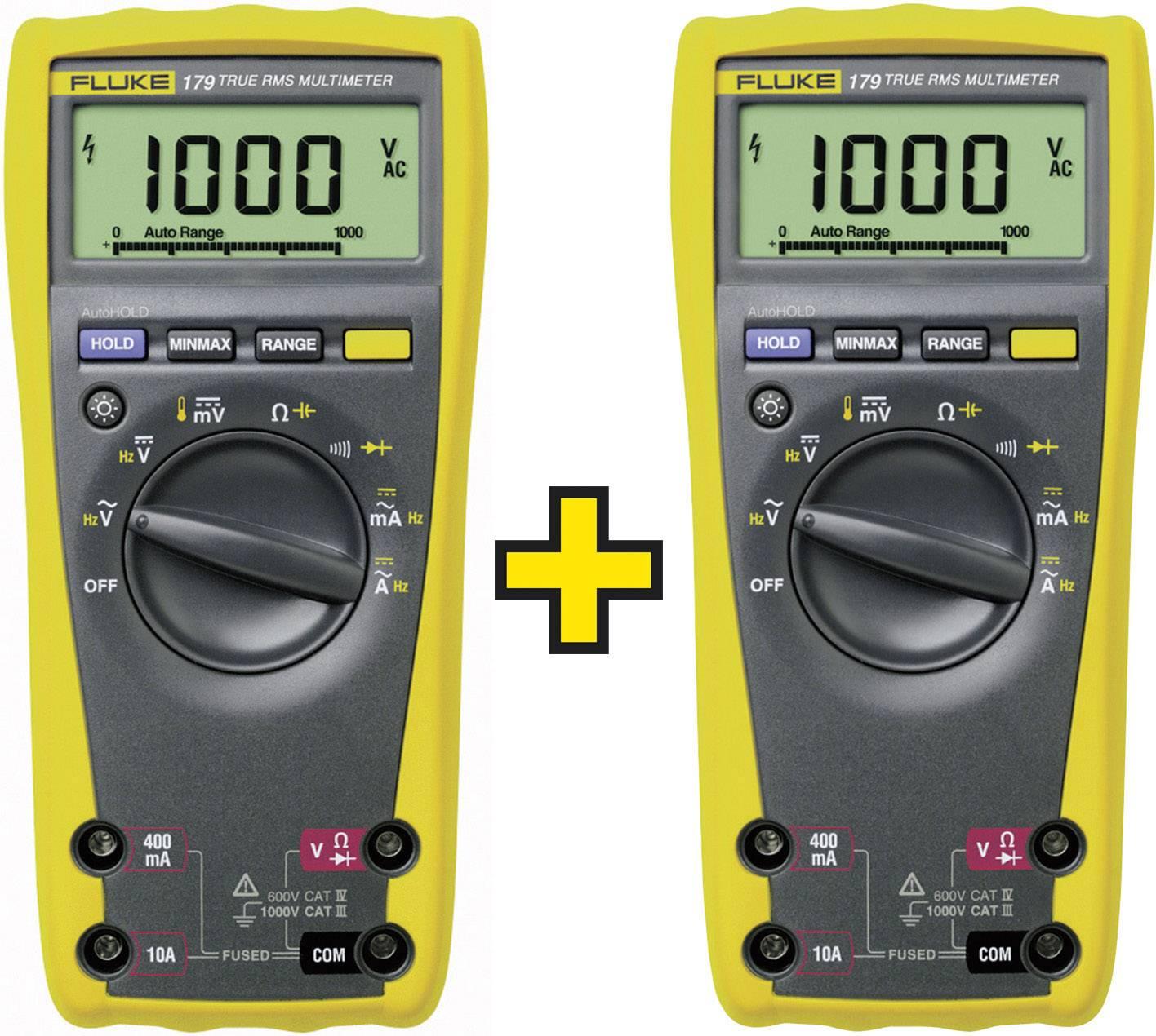 Fluke 2 x FLUKE-179 EGFID/TWIN Handheld multimeter Digital