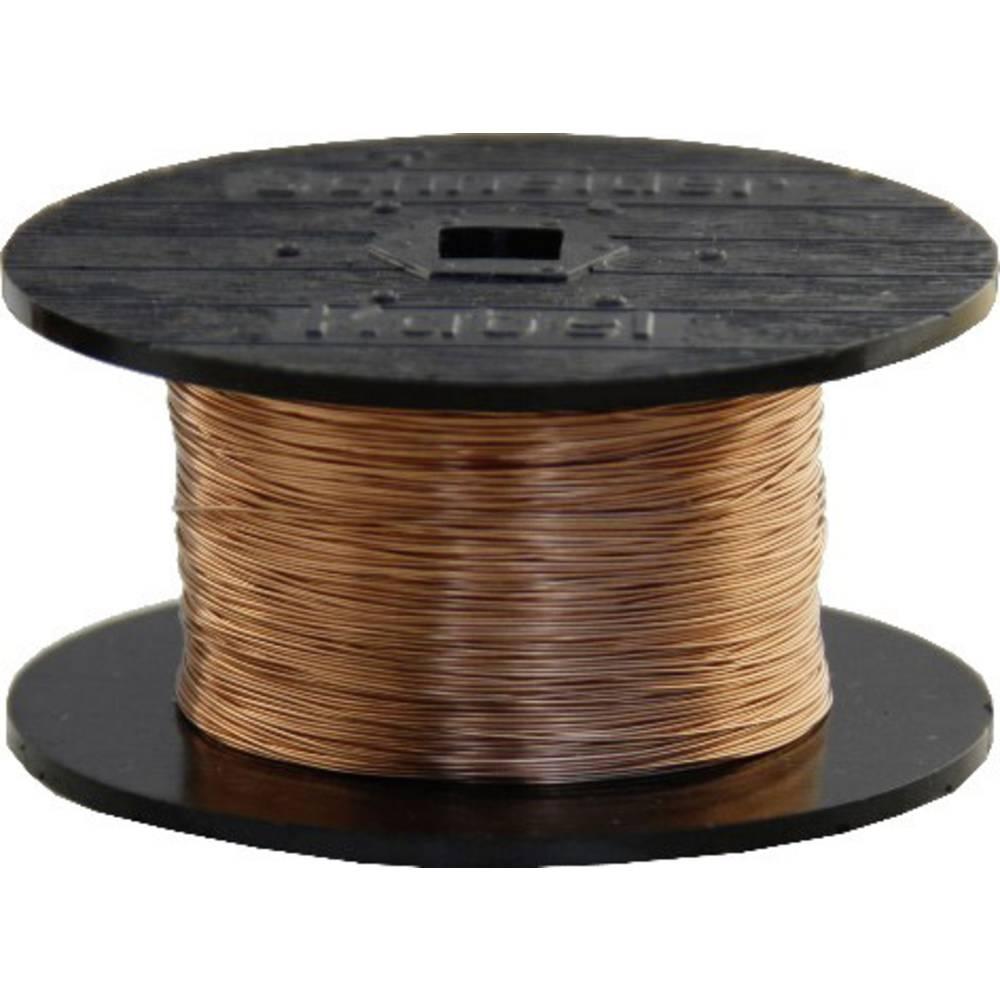 Lakirana bakrena žica zunanji premer (vklj. izolacijski lak)=0.23 mm 100 m BELI-BECO