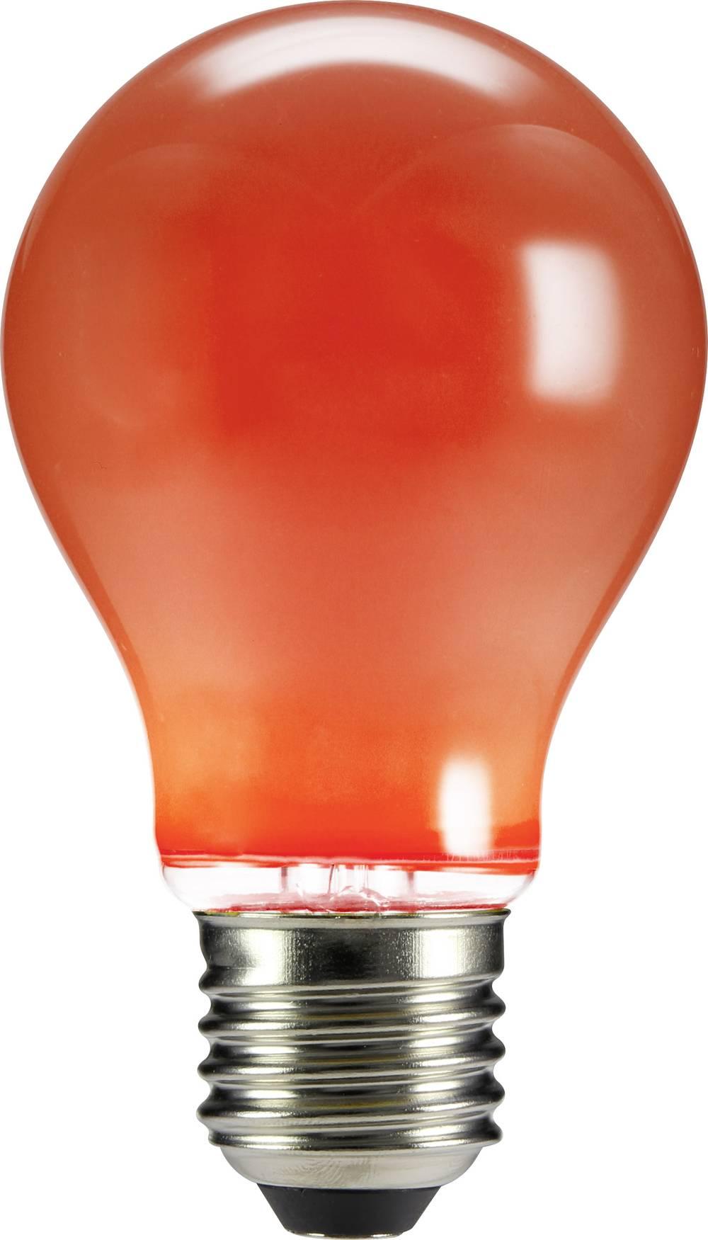 LED žarnica E27 klasična oblika 4 W rdeča (premer x D) 60 mm x 105 mm EEK: n.rel. Sygonix filament 1 kos