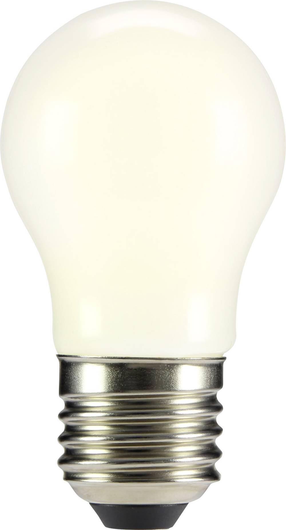 LED žarnica E27 oblika kaplje 2 W = 23 W topla bela (premer x D) 45 mm x 84 mm EEK: A++ Sygonix filament 1 kos