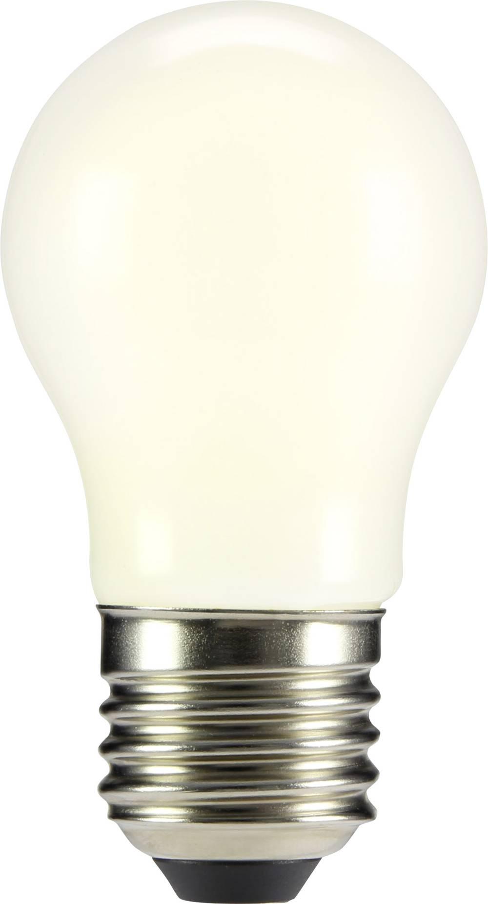 LED žarnica E27 oblika kaplje 4 W = 37 W topla bela (premer x D) 45 mm x 84 mm EEK: A++ Sygonix filament 1 kos