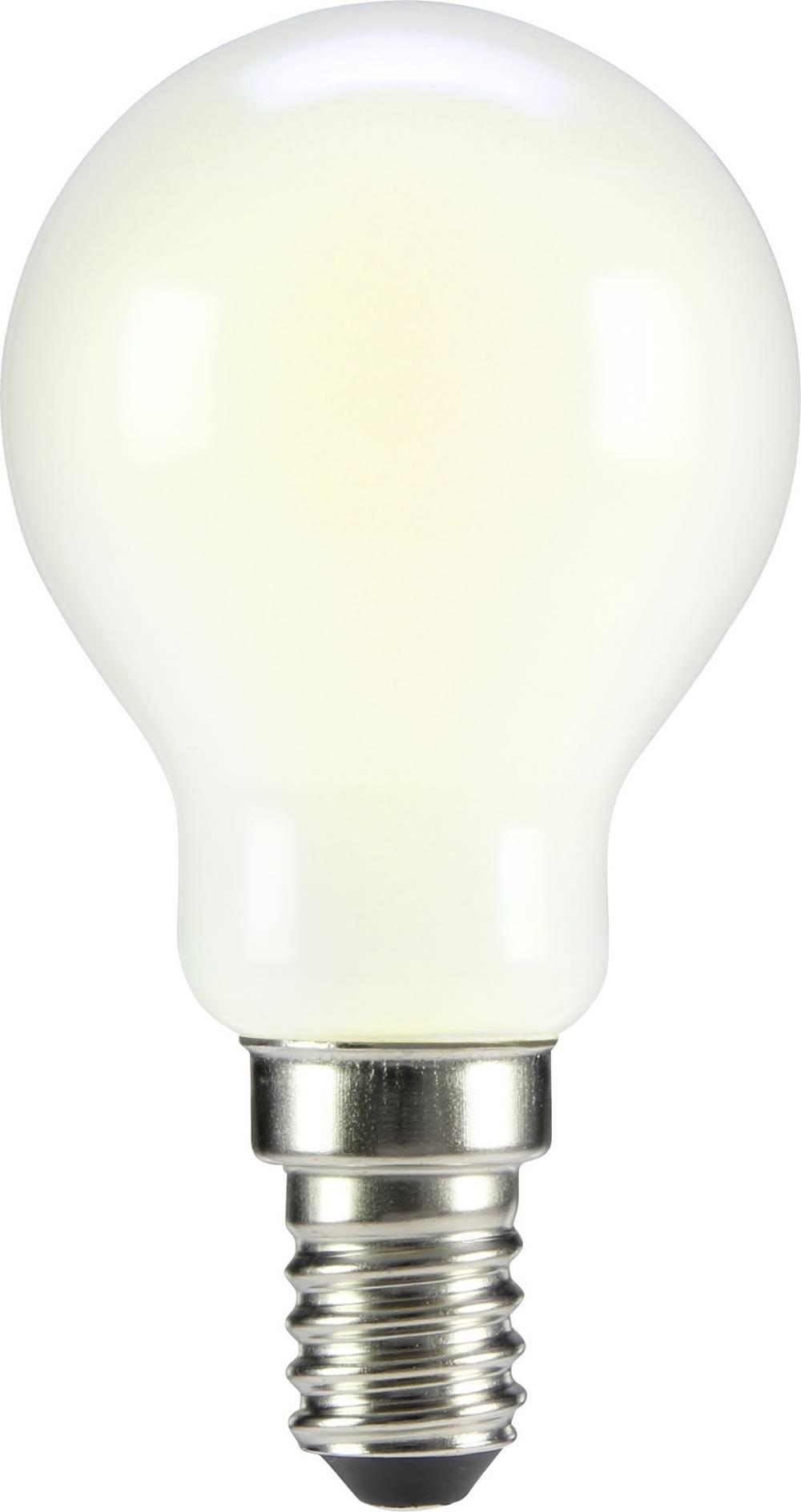 LED žarnica E14 oblika kaplje 2 W = 20 W topla bela (premer x D) 45 mm x 84 mm EEK: A++ Sygonix filament 1 kos