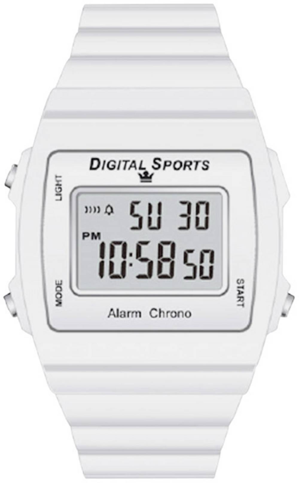 44515/03 Ročna ura, bela materijal ohišja=plastika materijal paščka=plastika