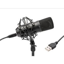 USB-studiemikrofon Tie Studio CONDENSOR MIC USB Bredbånd Inkl. spinder, Inkl. kabel