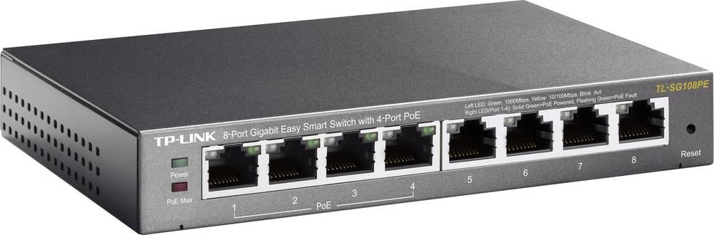 Omrežno stikalo RJ45 TP-LINK TL-SG108PE 8 vhodno 1 GBit/s PoE-Funktion