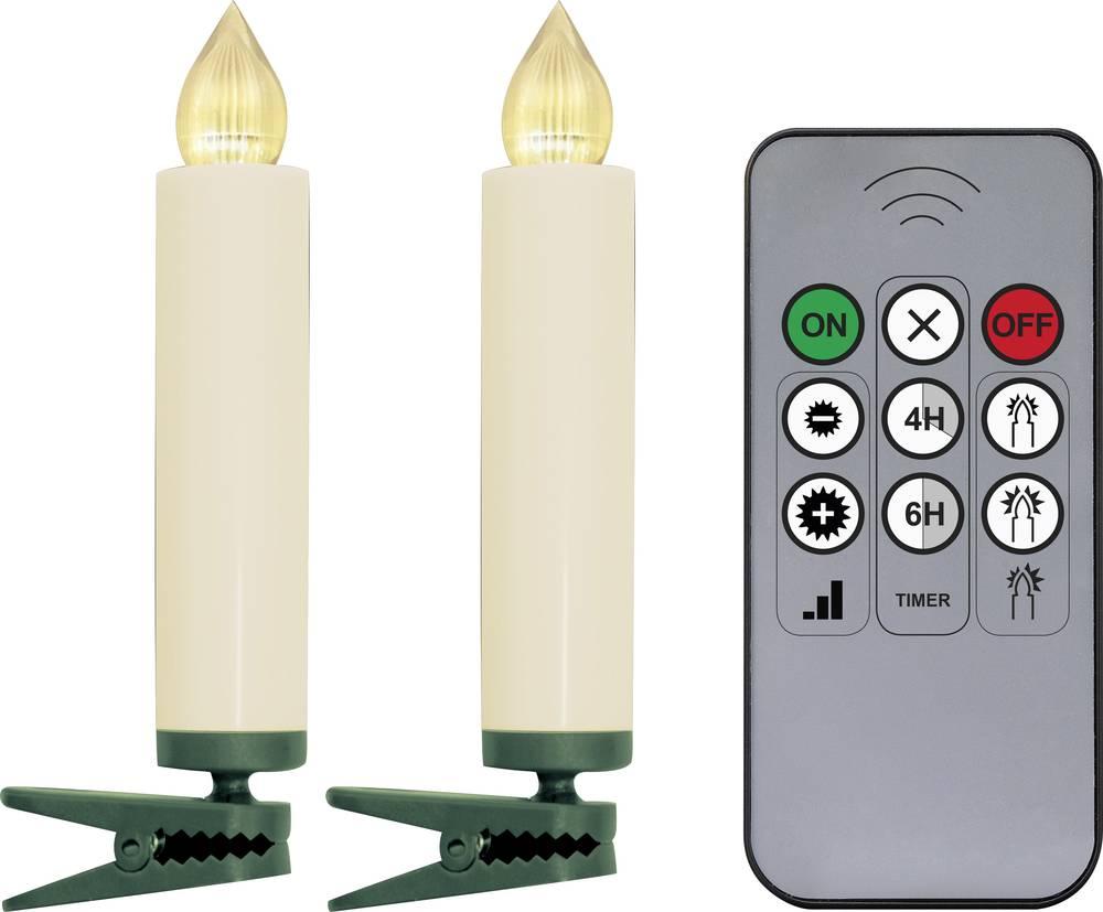 Trådløs juletræsbelysning Polarlite Stearinlys 10 LED Varm hvid 9.5 cm Indvendigt Batteridrevet
