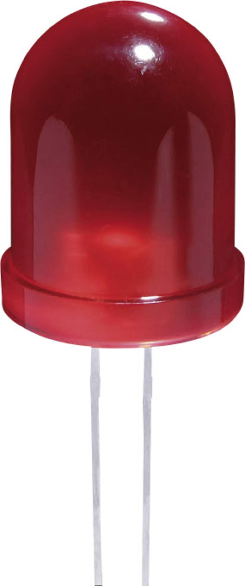Ožičena LED dioda, rumena, okrogla 10 mm 50 mcd 60 ° 20 mA 2.1 V