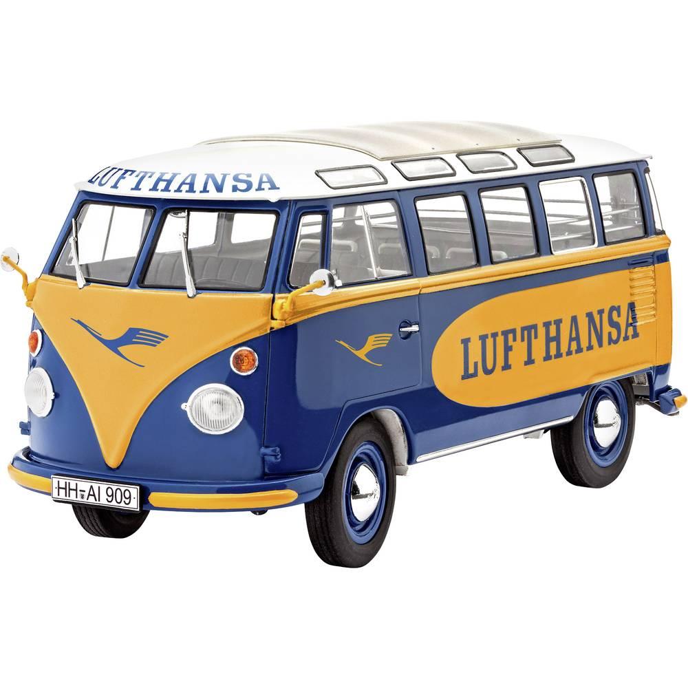 revell 07436 vw t1 samba bus lufthansa car model assembly. Black Bedroom Furniture Sets. Home Design Ideas