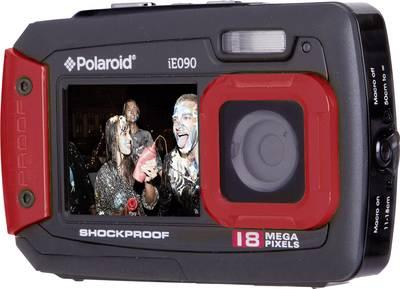 Image of Polaroid iE090 Digital camera 18 MPix Black-red Underwater camera, Dustproof, Front display