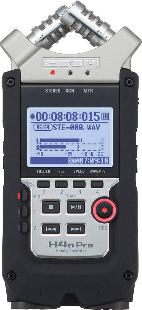 Zoom H4npro Portable Audio Recorder Black Silver Conrad Com