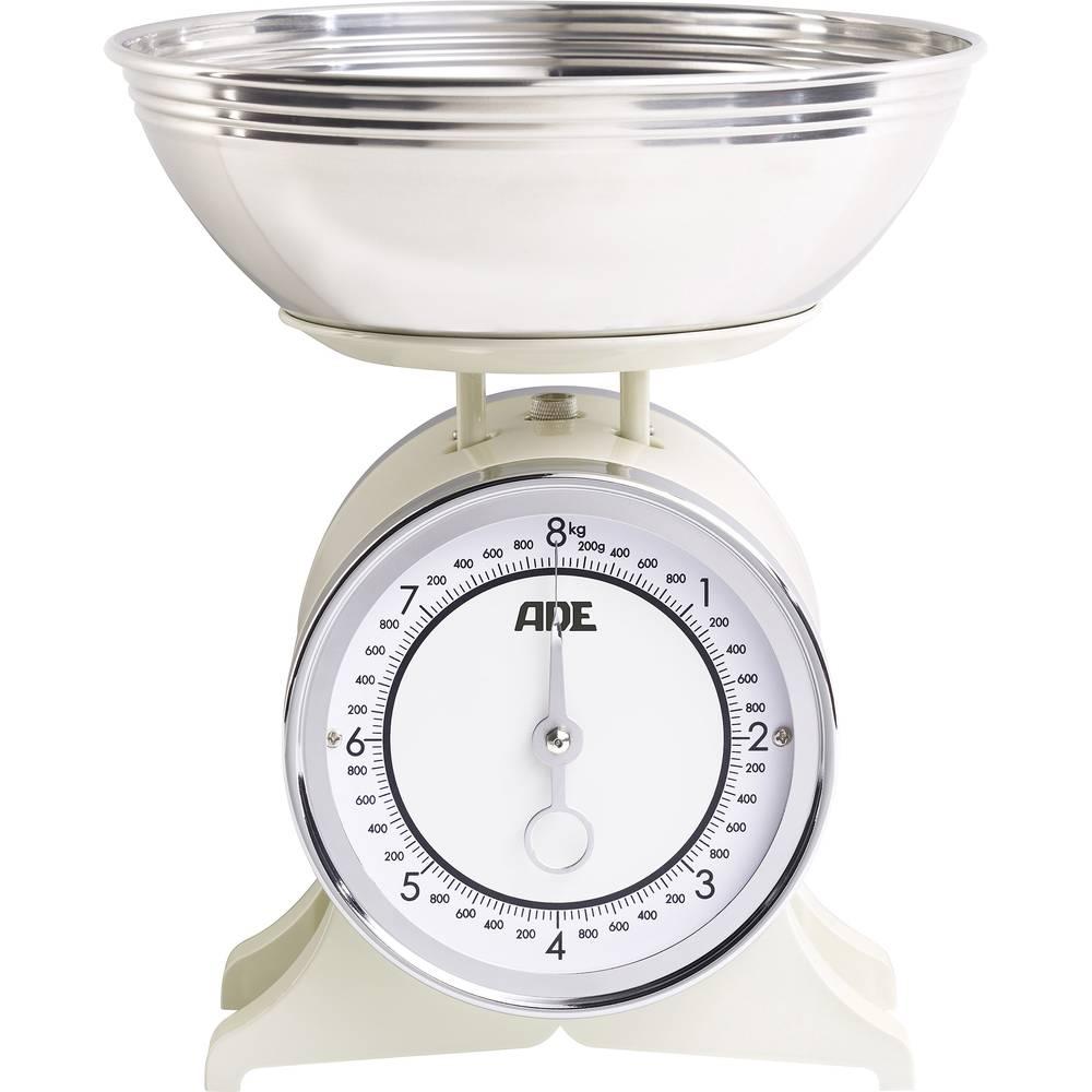 Analogna kuhinjska vaga Anna ADE, s mjernom posudom područje vaganja (maks.)=8 kg krem
